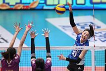 女排联赛决赛第五场:上海胜天津