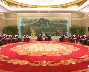 李鸿忠会见日本日中友好议员联盟代表团