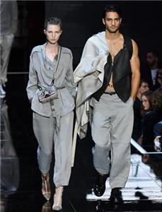米兰时装周安普里奥·阿玛尼发布春夏新品