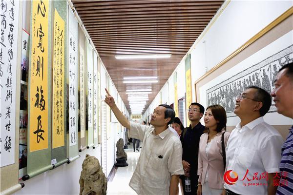 """""""2019王文明�文楹�翰墨展""""在天津�e�k"""